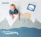 Baby Milestone Blanket - I Will Move Mountains