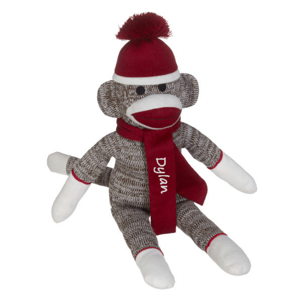 Personalized Sock Monkey – Red