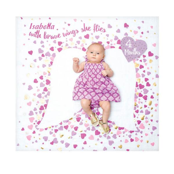 Baby Milestone Blanket – Brave Wings