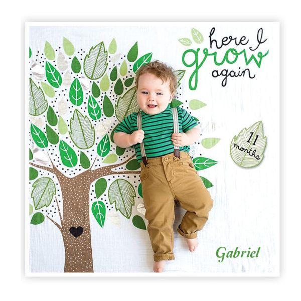 Baby Milestone Blanket – Here I Grow