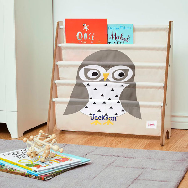 3 Sprouts Book Rack – Owl