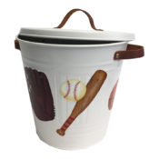 Hand Painted Wastebasket