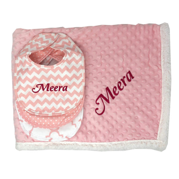 Personalized Baby Gift Set – Pretty in Pink