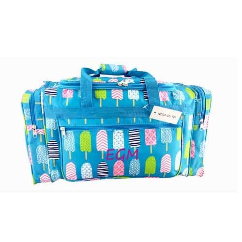 blue popsicle duffel bag