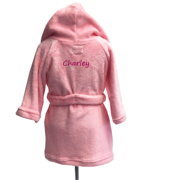 personalized kids robe – pink
