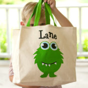Personalized Canvas Tote - Monster