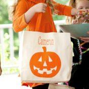 Personalized Halloween Bag - Pumpkin Tote