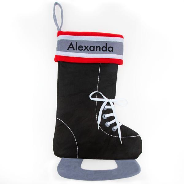 Personalized Christmas Stocking – Hockey Skate