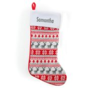Personalized Christmas Stocking - Knit Fair Isle