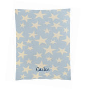 Personalized Baby Blanket - Multi Stars in Blue