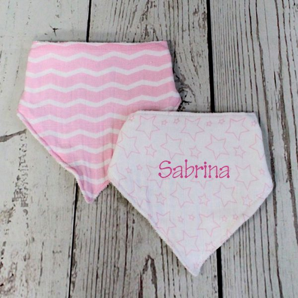 Personalized Baby Bib – Pink