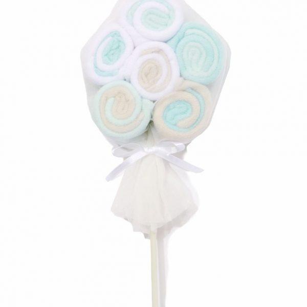 Washcloth Lollipop – blue