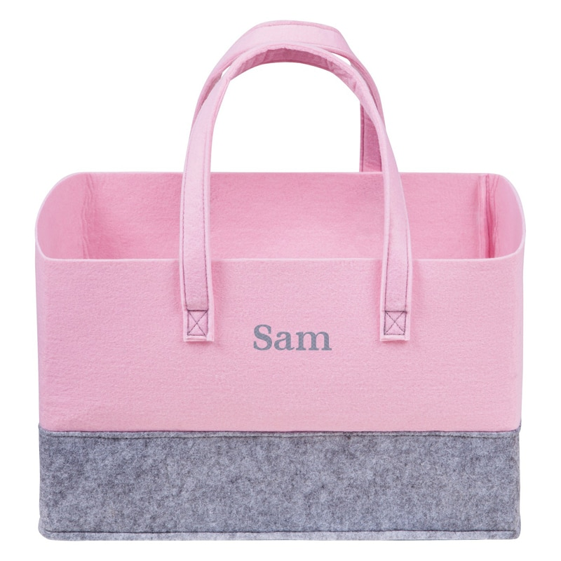 Personalized Tote – Pink & Grey